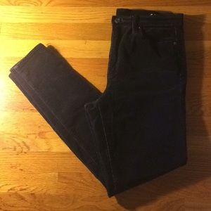 Like new Gap high waisted black corduroys 30